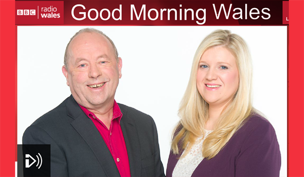 image of BBC Radio Wales Good Morning Wales presenters