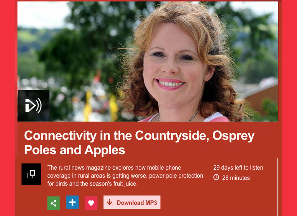 Image from BBC Radio Cymru / Wales 'Country Focus' programme where the issue was featured