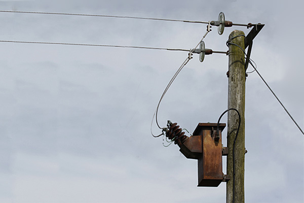 Image of the killer pole which electrocuted Jimmy